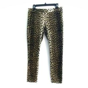 JUICY COUTURE cheetah print velour track pants